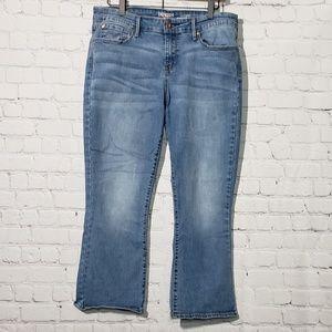 Levis Denizen modern crop flare jeans